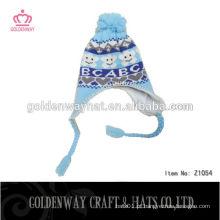 Chapéu de bebê de malha de crochê