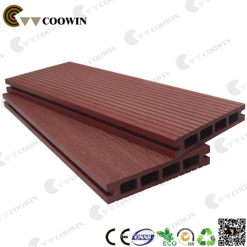 extruded faux wood plastic composite decking