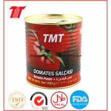 830g de pasta de tomate enlatada de la marca Tmt de alta calidad