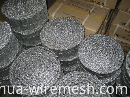 18gauge soft galvanized iron wire double loop tie wire