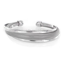 Modernisierte Silber Mesh Cuff Metall Charm Armband Vners