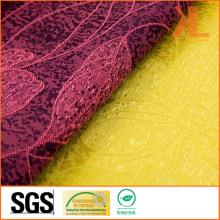 100% Polyester Qualité Jacquard Leaf Design Large Wide Table Cloth