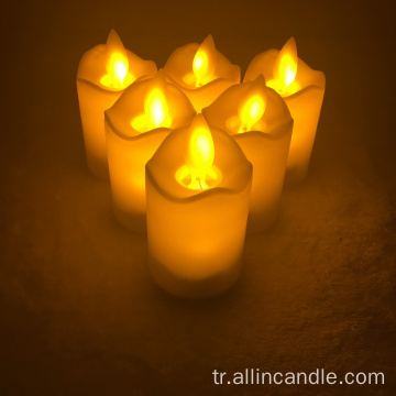 Led moving wick yellow light flickering candle