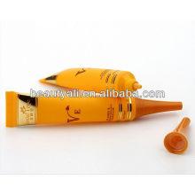 Long nozzle plastic tube for eye cream