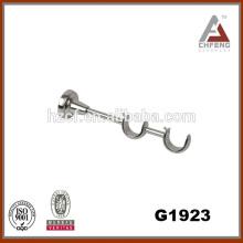 G1923 fixed double curtain wall shelf brackets/metal double curtain bracket/plated curtain bracket drapery hardware
