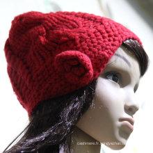 2016 tricoté de haute qualité chapeau / enfants bonnet tricoté / chapeau tricoté de broderie