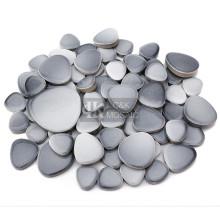 Серый микс из гальки керамическая мозаика для сада