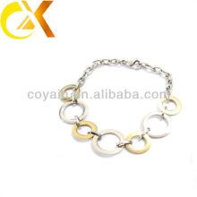 Элегантный браслет из нержавеющей стали с уникальными кольцами для девочки