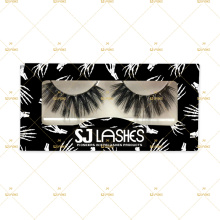 100% mink lashes color lashes with Halloween theme box
