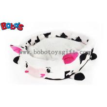 Preço grossista Plush Stuffed vaca cama de estimação forma para cachorro Dog Cat Bosw1092 / 45X40X13cm