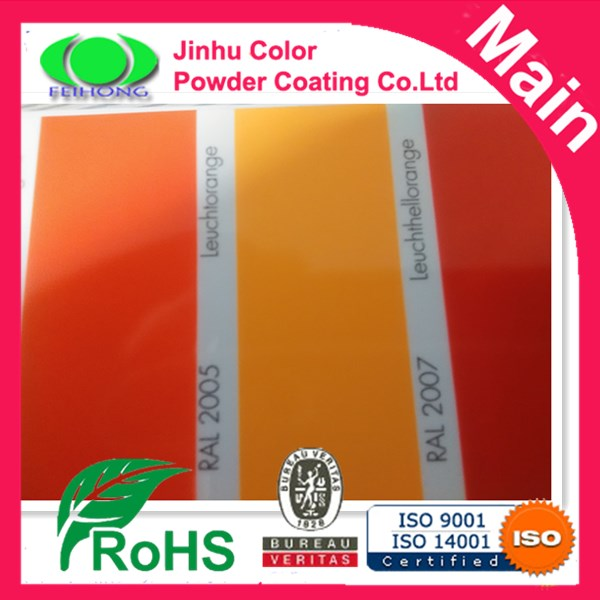 fluorescent candy color powder coating