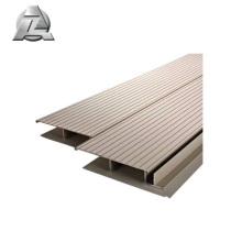 Non flammable wood color aluminum material decking
