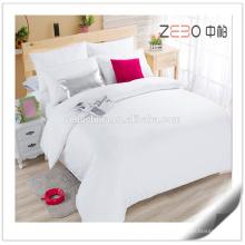 Pure Sateen tecido branco 400T Super Quality Bed Bed Linen cama conjuntos