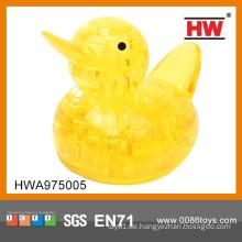 Heißer Verkauf Plastikgelbe Ente 3D Kristallpuzzlespiel
