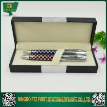 Caixa de presente de caneta dobrável de papel revestido impresso personalizado