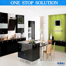 Boutique High Gloss Black Kitchen Cabinets