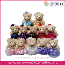 Venta al por mayor Valentine Animal Toy, 10cm Cute Mini Plush Mouse en vestido de novia