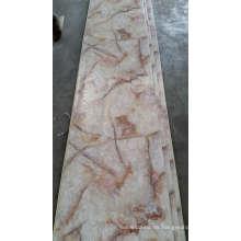 Decoración de la pared interior PVC Mármol-como la superficie de la hoja Lavable PVC Wall Panels
