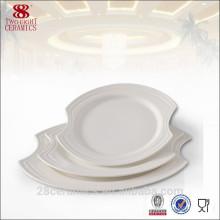 Vajilla exclusiva al por mayor, placa de porcelana de cerámica española
