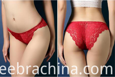 women lace underwear red