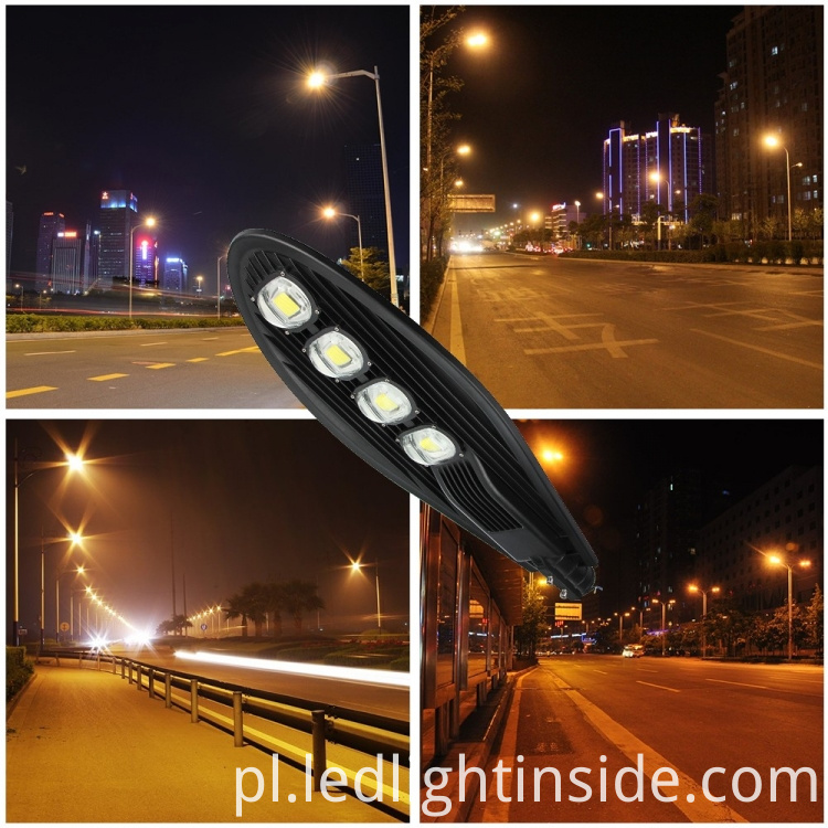 High Lumen 200w LED Street Light Fixtures