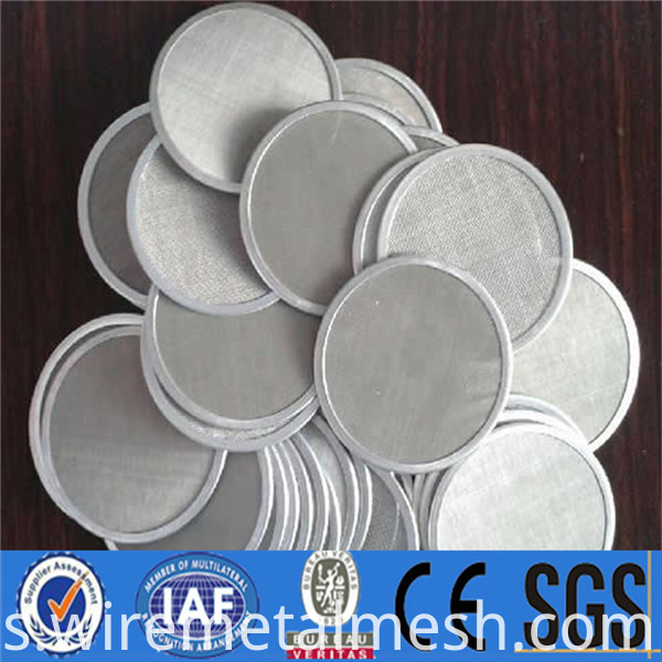 High strength stainless steel filter disc17