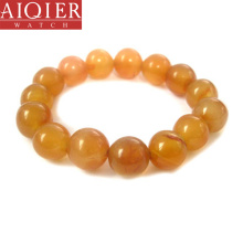 Natural single-layer round beads topaz bracelet