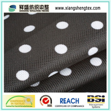Tissu en polyester poli en polyester revêtu pour parapluie