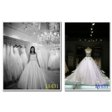 Plain Strapless Ball Gown Type Wedding Dress