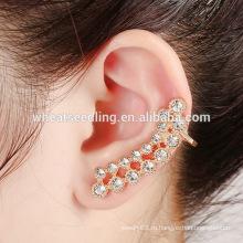 Новый модный блеск кристалла серьги уха манжеты и уха контакты