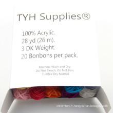 9 s/3 fils acryliques pour le marché USA