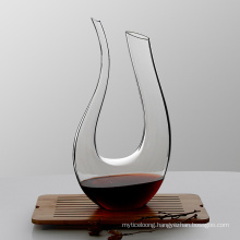 Red Wine Carafe Wine Gift Hand Blown Lead-Free Crystal Glass Wine Decanter