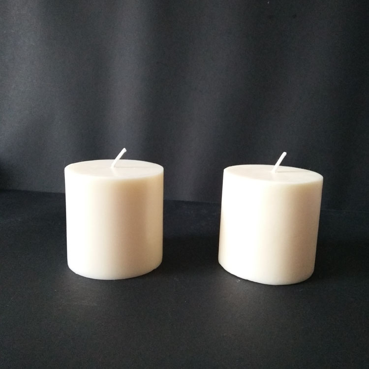 Ivory Color Vanilla Scents Flat Top Pillar