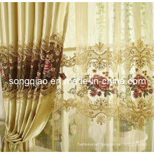 Polyester Embroidered Curtains with Jacquard (SQ113)