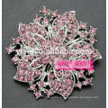 Broche de flor de cristais coloridos vintage feminino