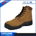 Split Suede Leather Upper Lace Safety Shoes Ufb053