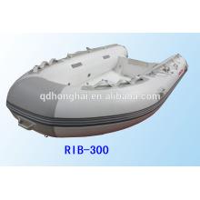goma barco barco inflable rígido casco RIB300 con CE