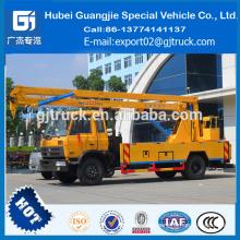 dongfeng camión de trabajo de plataforma de 22 m de altura, camión de trabajo de 22 m de altura, camión de trabajo de cangilones de 22 m.