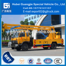 dongfeng 22 m high platform working truck, 22 m overhead working truck, 22 m bucket working truck.