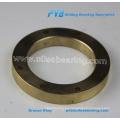 Arandela de bronce fundido, Thrust wahser, bronce con lubricante sólido
