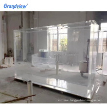 Factory direct sale indoor decorative giant plexiglass fish tank