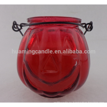 Personalizada jarra de vidrio vela velas perfumadas velas de soja en forma redonda al por mayor