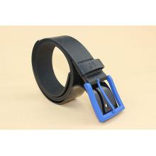 Blue buckle pu men belts wenzhou pu belt factory pu leather belt