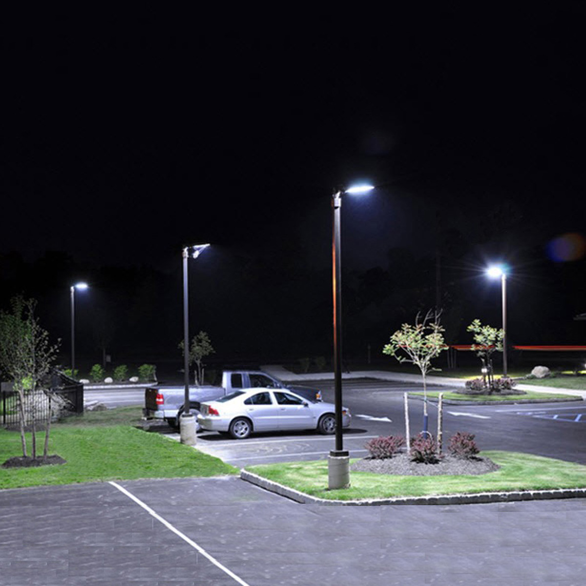 Led Street Light With Pole (3)