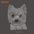 Yorkshire Terrier Dog Rhinestone Transfer Hot Fix Motif