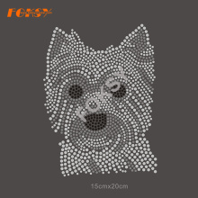 Yorkshire Terrier Cachorro Rhinestone Transfer Hot Fix Motif
