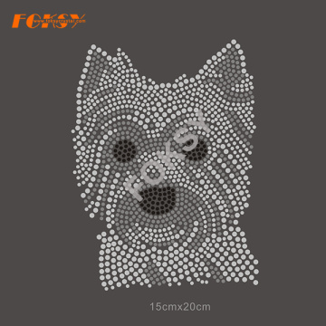Yorkshire Terrier chien strass transfert Hot Fix Motif