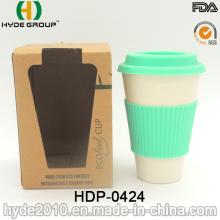 Taza de fibra de bambú libre al por mayor no inflamable de BPA (HDP-0424)