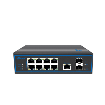 10-ports full gigabit-hanterad Industrial None-PoE-switch
