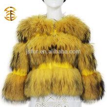 2017 Hot Sale Manteaux et vestes Femme Veste Real Raccoon Fur Coat